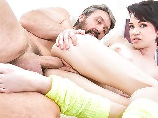 Slutty Cadey Mercury takes man spunk in her tight vagina.