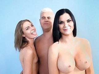 Jasmine & Shyla team tag to drain Porno Dan's flesh obelisk